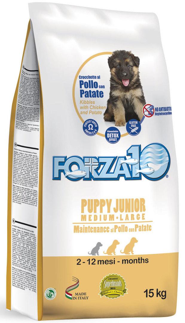 Корм сухой Forza10 Maintenance для щенков средних и крупных пород с 2,5 месяцев, для собак в период беременности и лактации, с рыбой, курицей и картофелем, 15 кг0115015Корм из курицы и картофеля для щенков средних /крупных пород (с 2,5 мес.), также для сук в период беременности и лактации. Для гармоничного и уравновешенного роста, содержит ценные белки