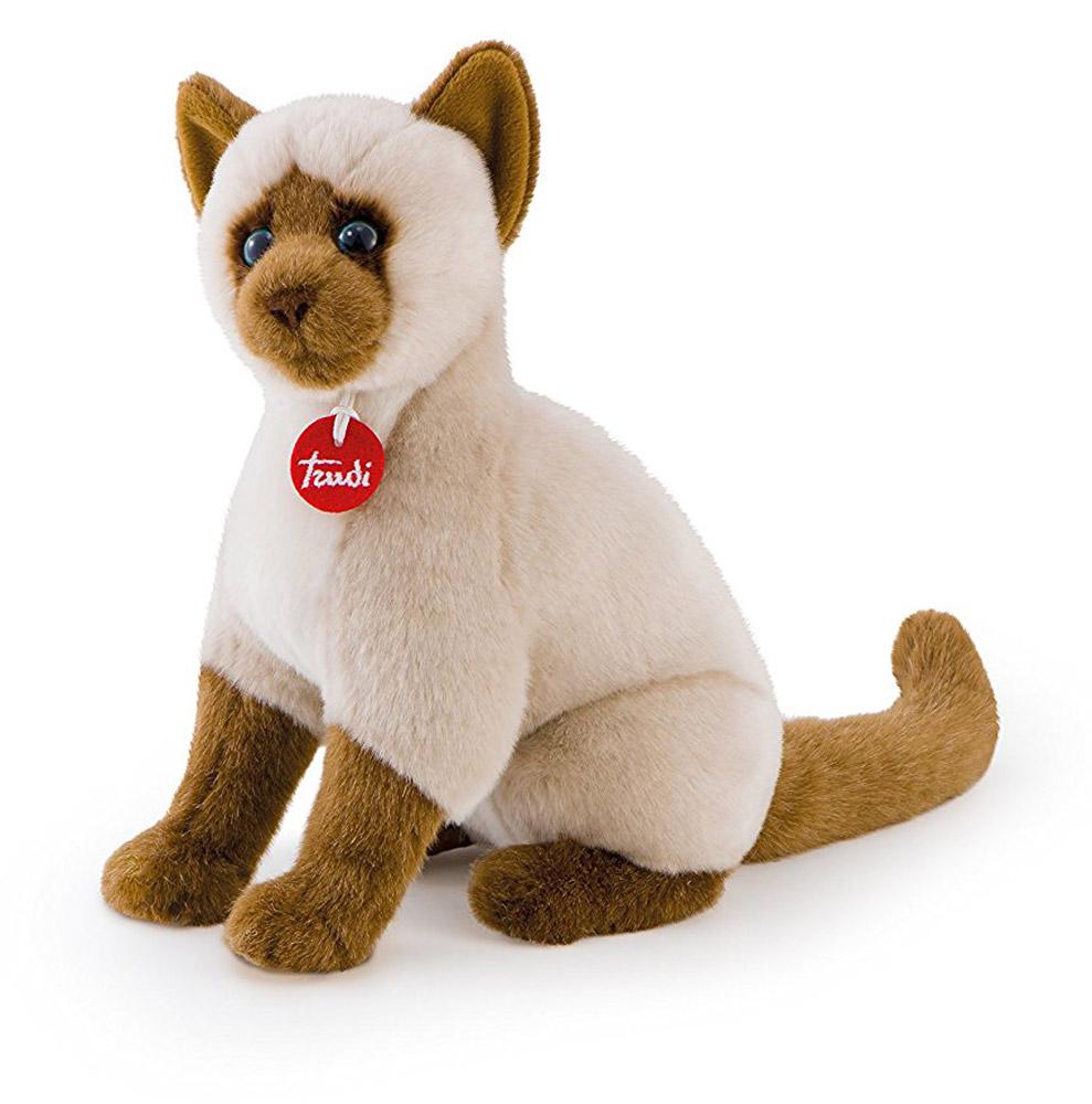 Trudi Мягкая игрушка Сиамская кошка Грета сидячая 31 см