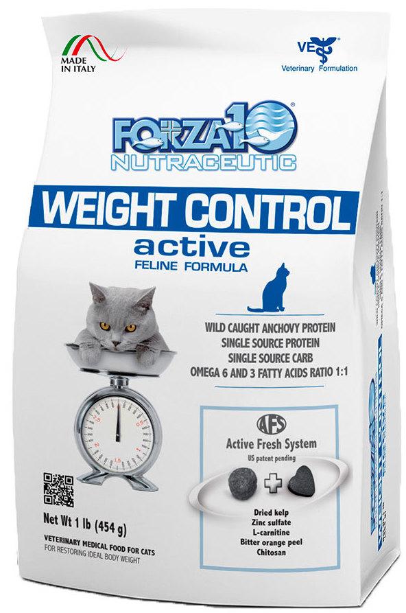 Корм сухой Forza10 Active Line для взрослых кошек для снижения избыточного веса, 0,454 кг0202454Корм для взрослых кошек для снижения избыточного веса. Диетический полнорационный корм для кошек с нарушениями обмена жиров и углеводов (ожирение, диабет).