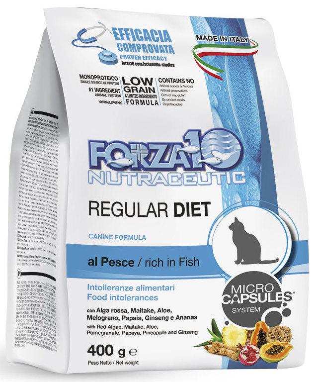 Корм сухой Forza10 Diet для взрослых кошек, при аллергии и повышенной чувствительности к животным белкам, с океанической рыбой, 0,4 кг0203400Корм для взрослых кошек из океанической рыбы, при аллергии и повышенной чувствительности к животным белкам. Рекомендуется для профилактики и лечения пищевой аллергии и непереносимости.
