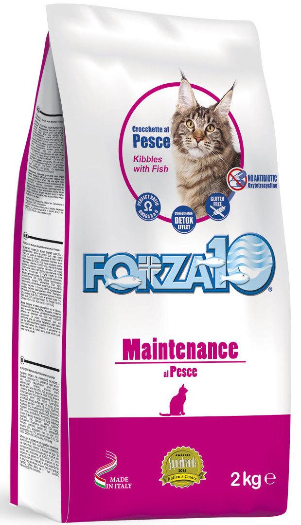 Корм сухой Forza10  Maintenance  для взрослых кошек, с рыбой, 2 кг - Корма и лакомства