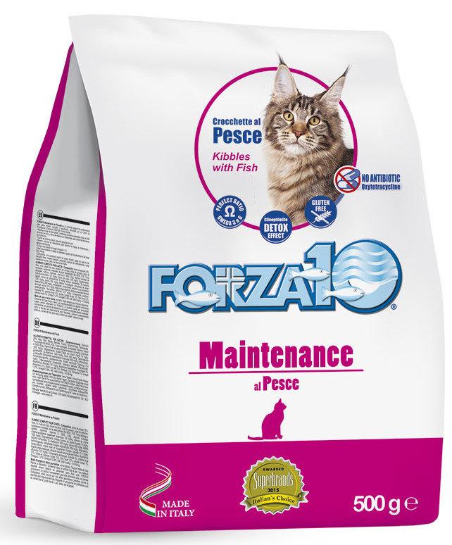 Корм сухой Forza10 Maintenance для взрослых кошек, с рыбой, 0,5 кг0205500Корм для взрослых кошек на основе рыбы. Уменьшает вероятность возникновения пищевой непереносимости и аллергии. Для поддержания прекрасного состояния здоровья кошки.