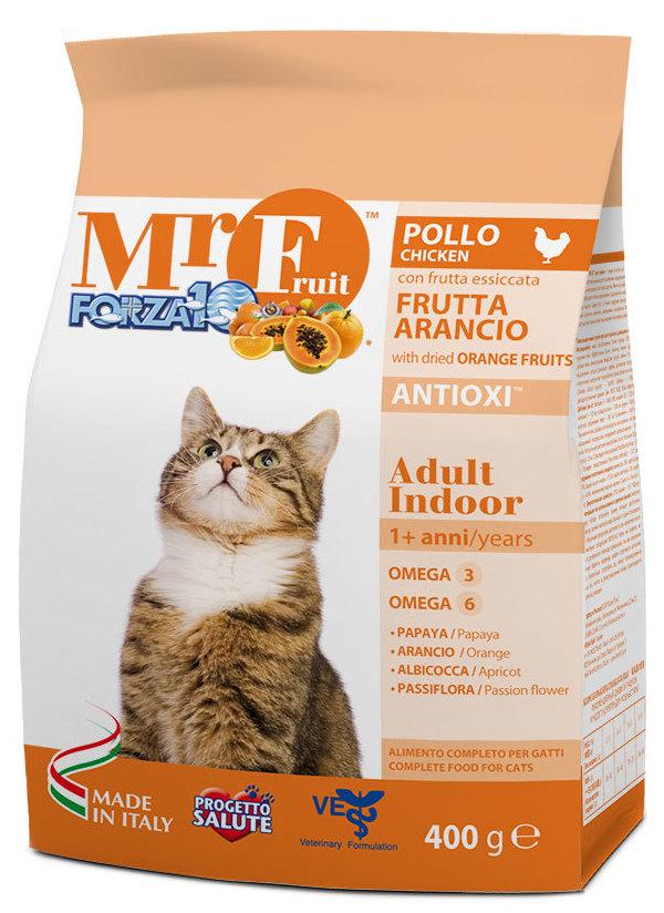 Корм сухой Forza10 Fruit для взрослых кошек, с курицей и рыбой, 0,4 кг0209400Корм для взрослых домашних кошек. Гарантия отличной физической формы. Высокая усваиваемость. Уникальная формула удовлетворит самых изысканных гурманов.