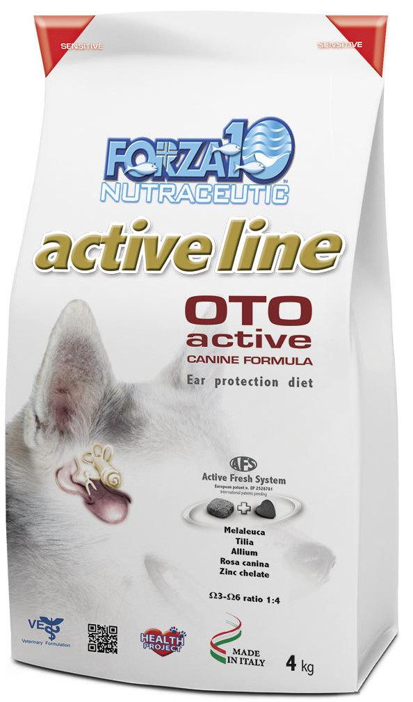Корм сухой Forza10 Active Line для взрослых собак всех пород с заболеванием слуховых органов, 4 кг0902004Корм для взрослых собак всех пород с заболеванием слуховых органов. Все формы отитов аллергического происхождения, как поддерживающий корм при любых заболеваниях ушей.