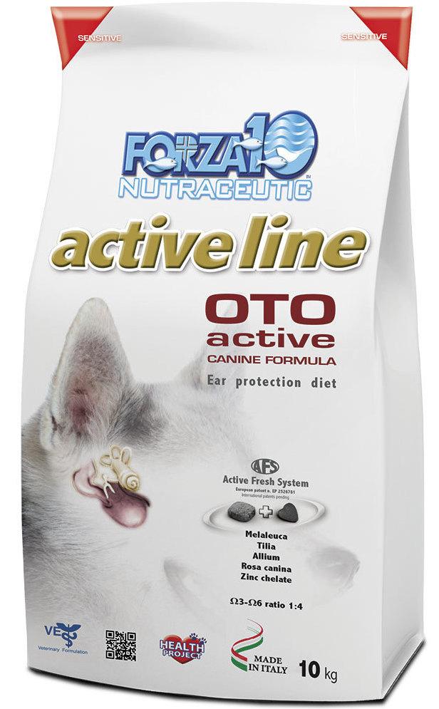 Корм сухой Forza10 Active Line для взрослых собак всех пород с заболеванием слуховых органов, 10 кг0902010Корм для взрослых собак всех пород с заболеванием слуховых органов. Все формы отитов аллергического происхождения, как поддерживающий корм при любых заболеваниях ушей.