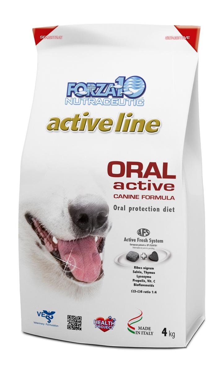Корм сухой Forza10 Active Line для взрослых собак всех пород с проблемами ротовой полости и верхних дыхательных путей, 4 кг0908004Корм для взрослых собак всех пород с проблемами ротовой полости и верхних дыхательных путей. Неприятный запах изо рта, зубной камень, гингивит, стоматит, ларингит и трахеит.