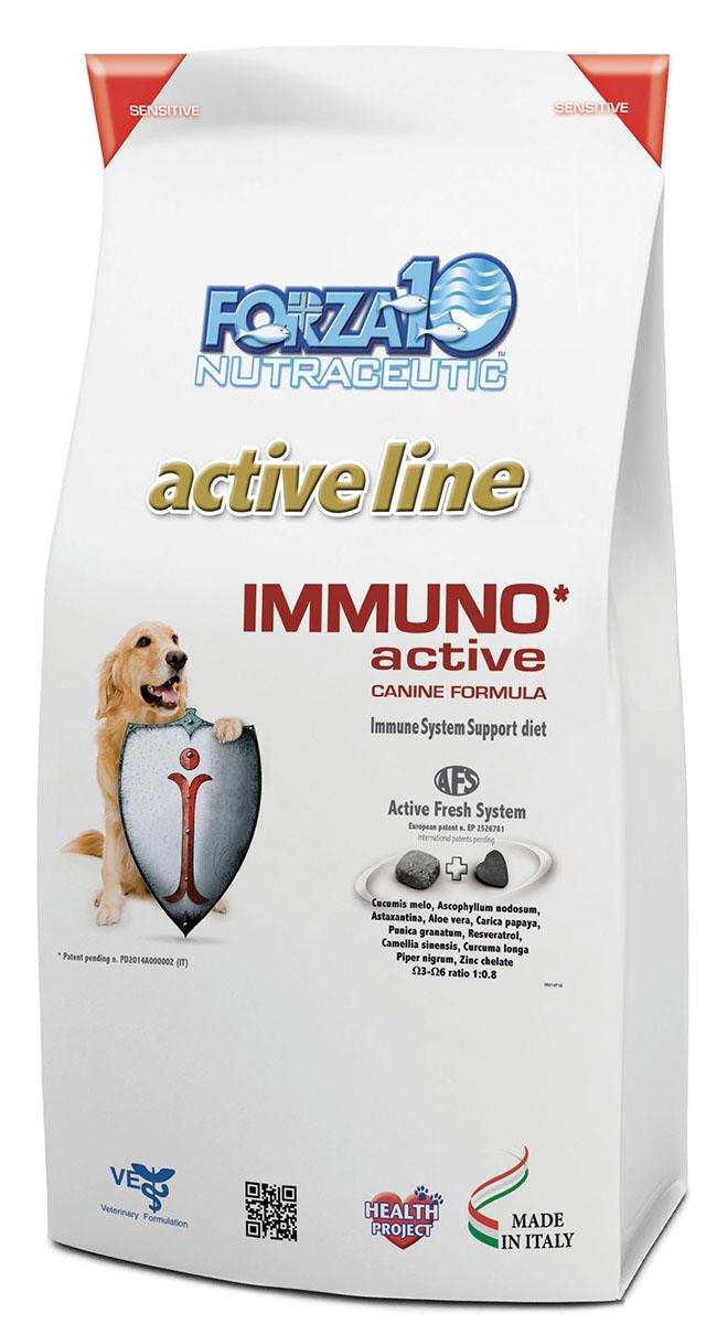 Корм сухой Forza10 Active Line для взрослых собак всех пород при нарушениях иммунной системы, 10 кг0924010Корм для взрослых собак всех пород при нарушениях иммунной системы: стрессы, инфекции, опухоли, диабет, вирусные, аутоиммунные заболевания.