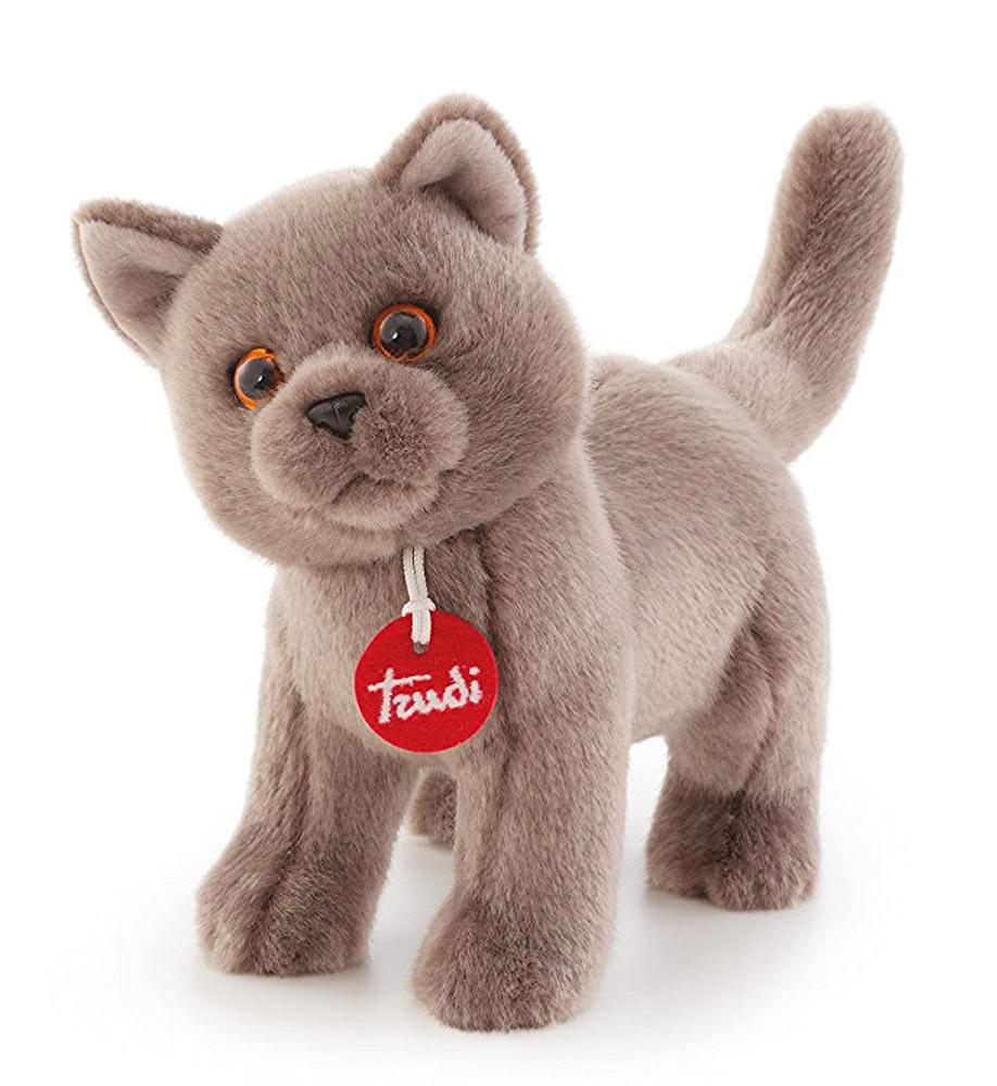 Trudi Мягкая игрушка Серый кот Помпео 29 см мягкие игрушки trudi лайка маркус 34 см