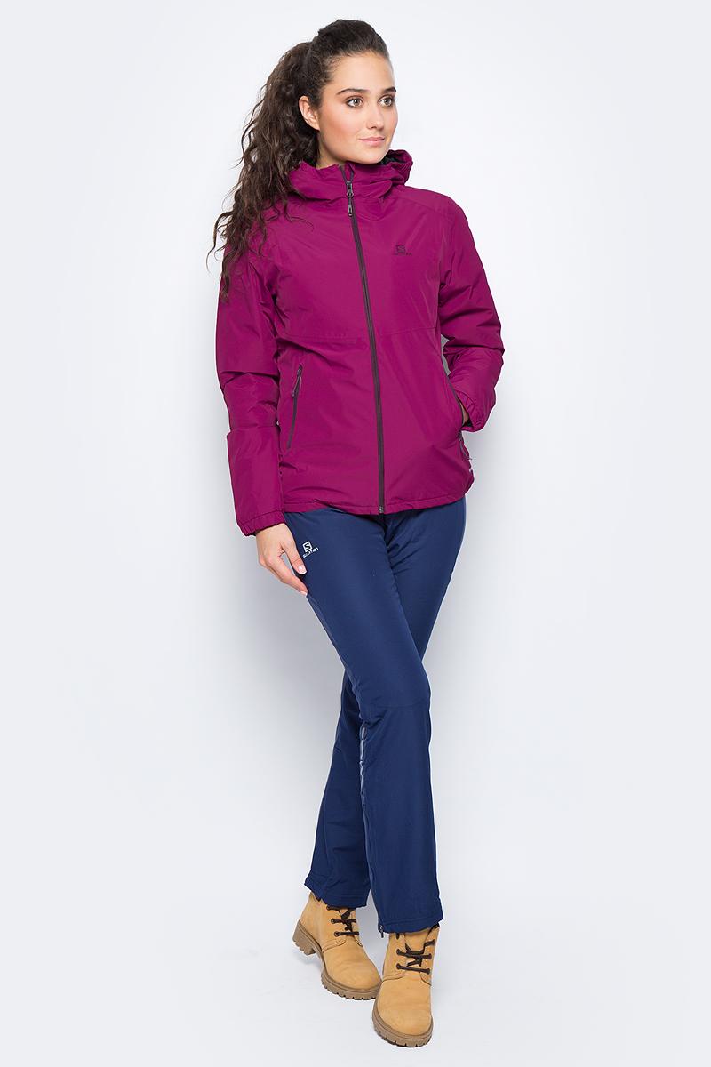 Куртка женская Salomon Essential Insulated Jkt W, цвет: бордовый. L39692700. Размер M (44/46)L39692700Женская куртка ESSENTIAL INSULTED JACKET подойдет тем, кому нужно тепло без дополнительного веса. Она сделана из мягкой на ощупь непромокаемой ткани с легким как перышко утеплителем Stormloft, которые делают эту куртку отзывчивой и удобной в любых зимних испытаниях.