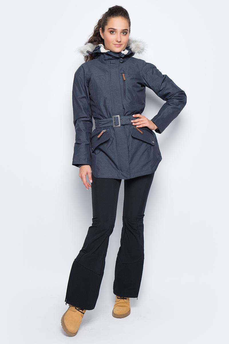 Куртка женская Columbia Carson Pass Ii Jacket W, цвет: темно-синий. 1515501-420. Размер XS (42)1515501-420Женская удлиненная куртка Carson Pass от Colubmia с мембраной Omni-Tech и утеплителем Omni-Heat отлично подойдет для зимы. Мембрана Omni-Tech защищает от влаги и ветра и в тоже время обеспечивает естественную вентиляцию. Утеплитель и подкладка Omni-Heat сохраняет тепло внутри изделия. Проклеенные швы в критических местах, фиксированный регулируемый капюшон, со съемным искусственным мехом, вшитые эластичные манжеты - обеспечивают дополнительный комфорт в холодную погоду. Модель дополнена тремя наружными карманами на молниях и двумя внутренними открытыми кармашками. Талию подчеркивает пояс с металлической пряжкой.