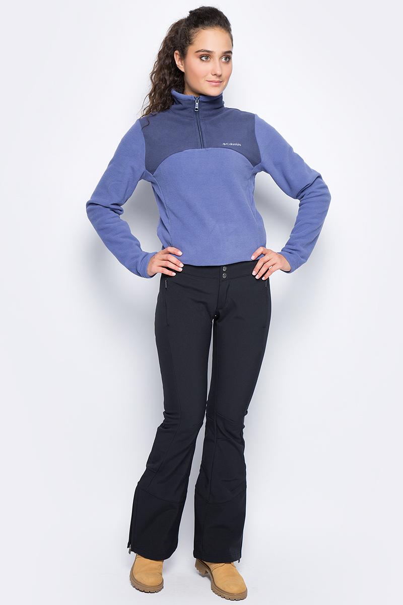 Брюки спортивные женские Columbia Roffe Ridge Pant W Ski, цвет: черный. 1761411-010. Размер 10 (50)1761411-010Утепленные женские брюки Roffe Ridge от Columbia прекрасно подойдут для катания на горных лыжах. Модель зауженного кроя с расклешающимися брючинами от колена и с посадкой на талии выполнена из плотного материала с водонепроницаемым покрытием. Специальные артикулированные вставки на коленях и эластичный материал позволяют вам двигаться естественно. По бокам предусмотрены карманы на молниях. На поясе расположены шлевки для ремня