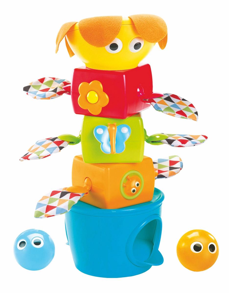 Yookidoo Пирамидка развивающая музыкальная с шариками игровой набор yookidoo пират и его попугай