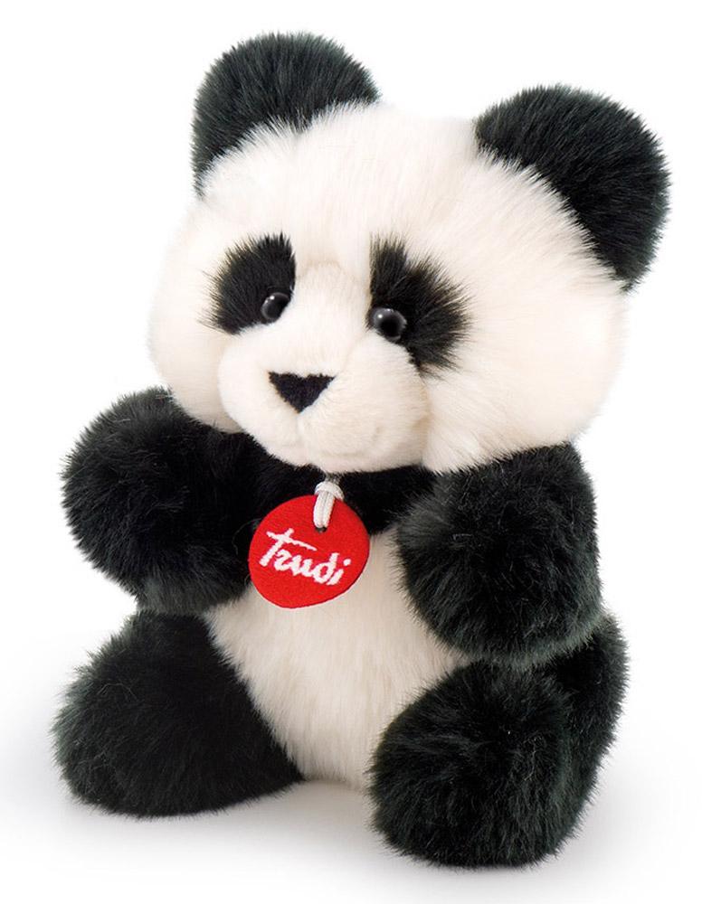 Trudi Мягкая игрушка Панда-пушистик 24 см trudi котёнок брэд серо белый 24 см
