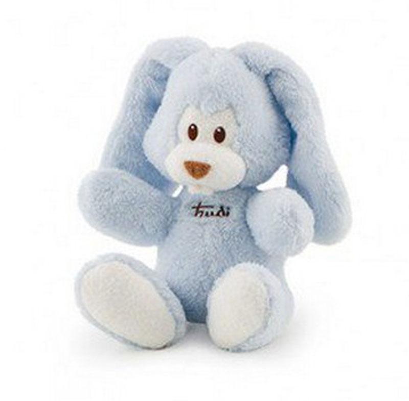 Trudi Мягкая игрушка Заяц Вирджилио цвет голубой 26 см мягкие игрушки trudi мягкая игрушка на руку заяц вирджилио 25 см