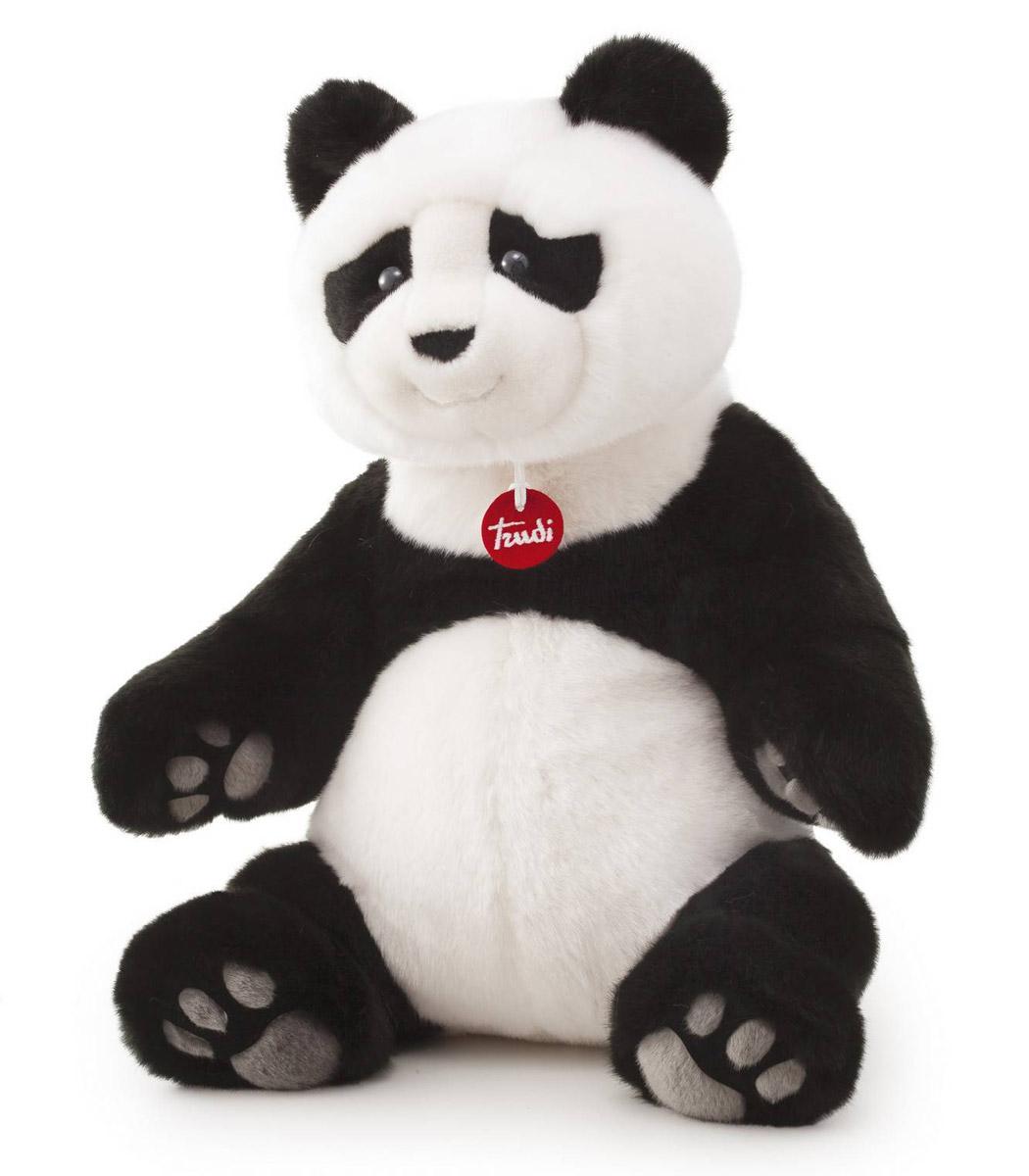 Trudi Мягкая игрушка Панда Кевин сидячая 45 см экоан кевин