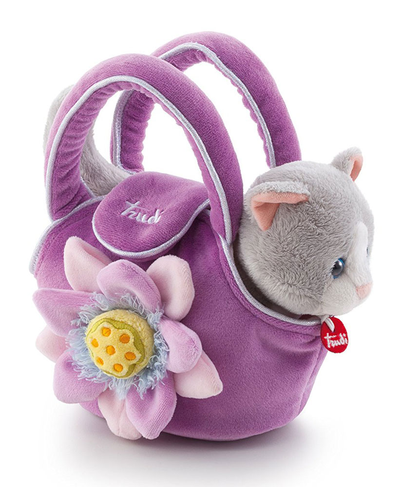 Trudi Мягкая игрушка Котенок в сумочке 15 см
