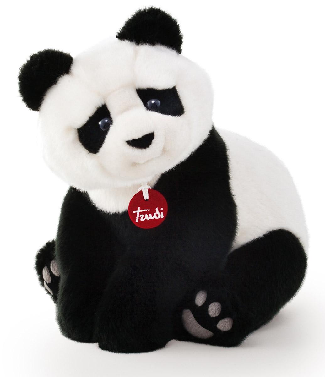 Trudi Мягкая игрушка Панда Кевин сидячая 34 см мягкие игрушки trudi лайка маркус 34 см