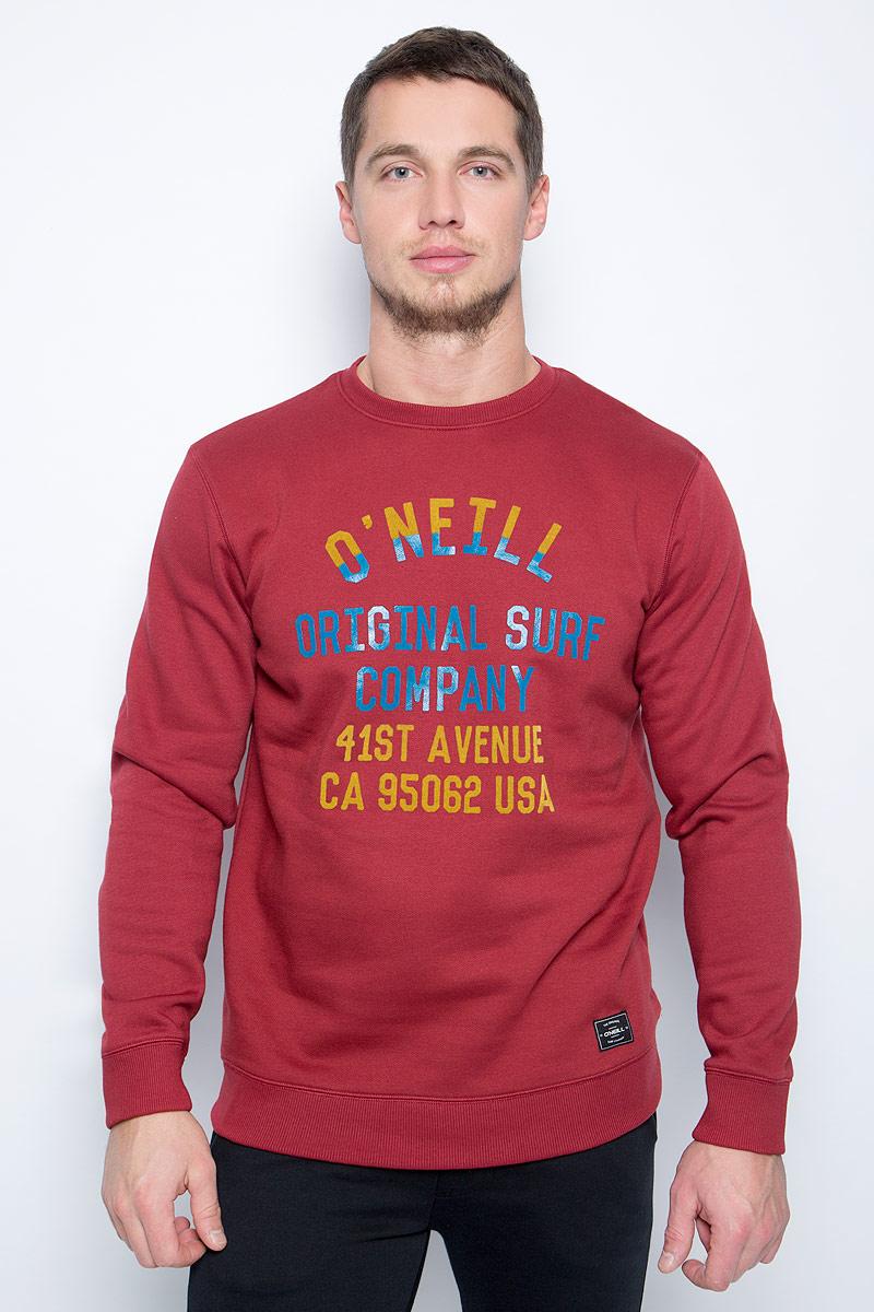 Свитшот мужской O'Neill Lm Pch Logo Crew Sweatshirt, цвет: красный. 7P1416-3087. Размер M (48/50)