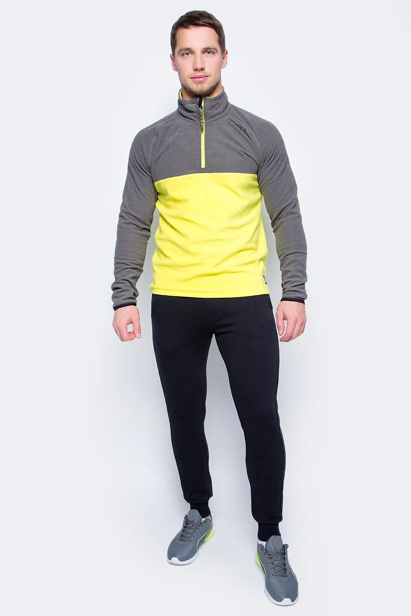 Толстовка мужская ONeill Pm Ventilator Half Zip Fleece, цвет: серый, желтый. 7P0220-2008. Размер L (50/52)7P0220-2008Мужская толстовка от ONeill выполнена из флиса. Модель с длинными рукавами-реглан и воротником стойкой на груди застегивается на молнию.
