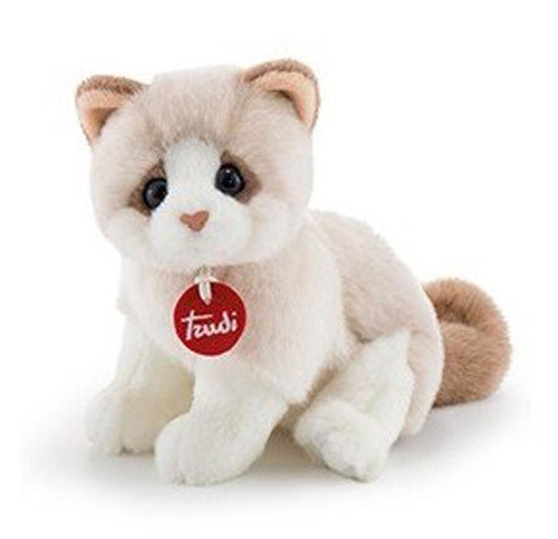 Trudi Мягкая игрушка Котенок Брэд цвет молочный бежевый 24 см trudi котёнок брэд серо белый 24 см