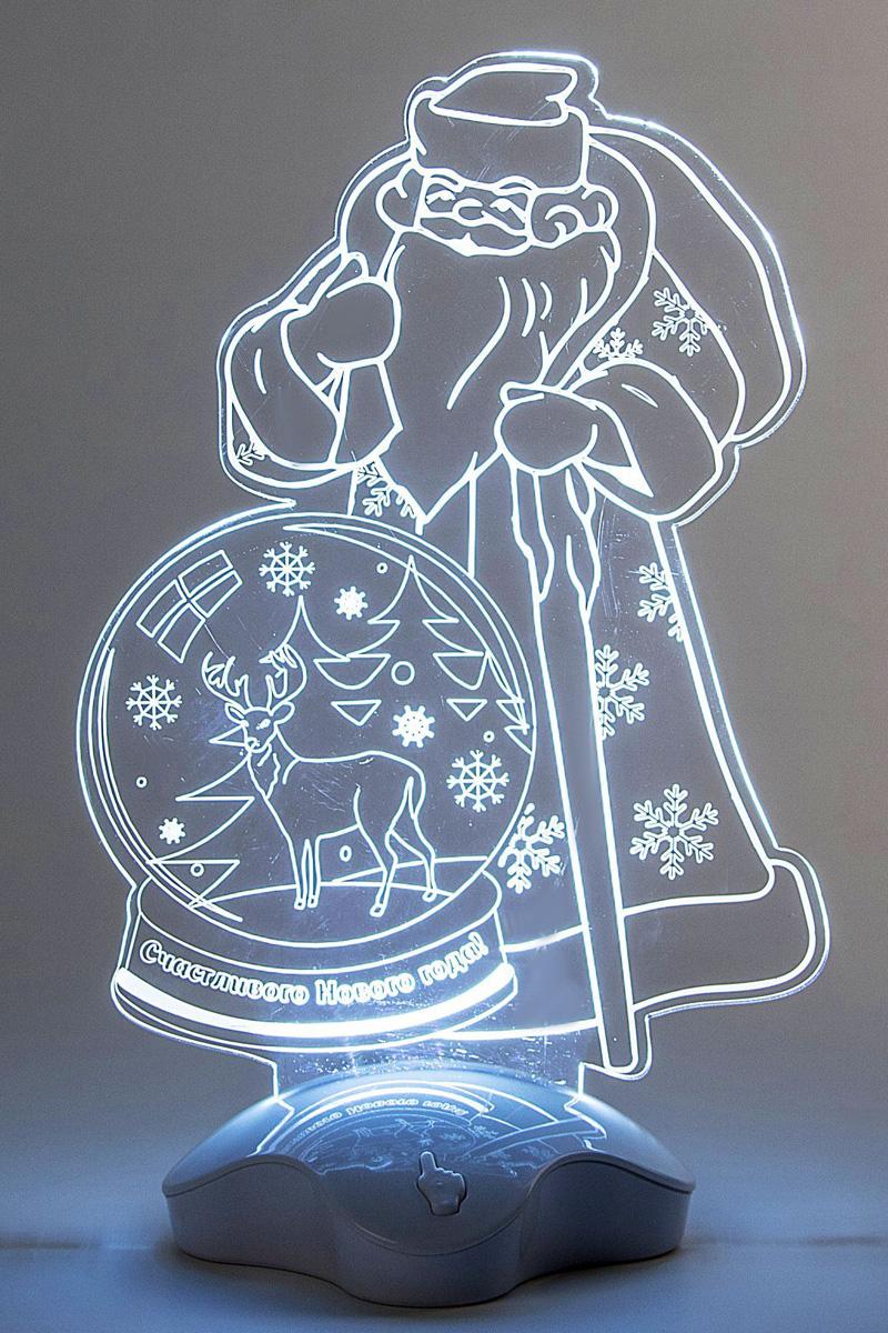 Подставка световая Luazon Дед Мороз, Олень в шаре, 25 х 15,5 см. 2446506