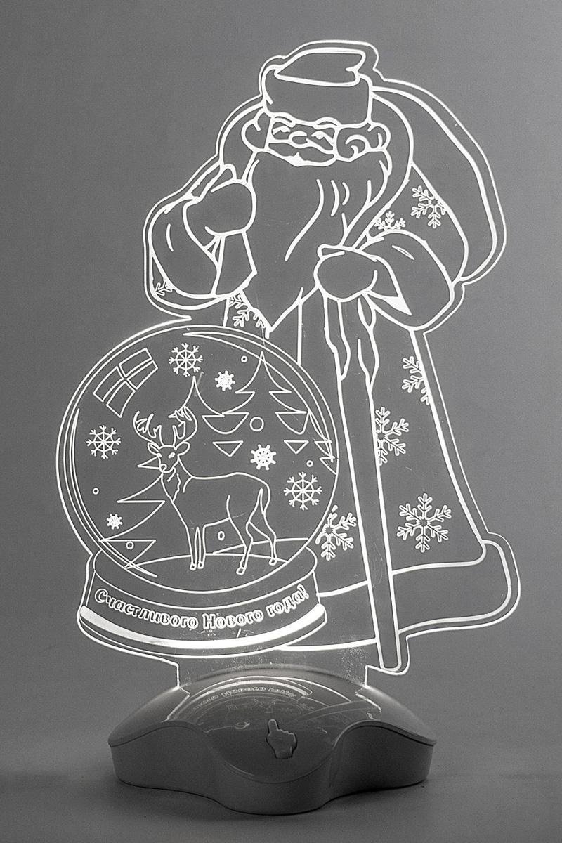 Подставка световая Luazon Дед Мороз. Олень в шаре, 25 х 15,5 см. 2446507