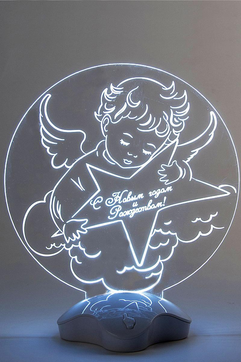 Подставка световая Luazon Ангел, 22,5 х 19 см. 24465082446508Невозможно представить себе современный мир без электроприборов. Благодаря качественным материалам и работе дизайнеров они способны сделать нашу жизнь комфортнее и порадовать глаз. Подставка световая — это прекрасный выбор, если вы находитесь в поиске товара, который идеально впишется в ежедневную жизнь и прослужит долго.