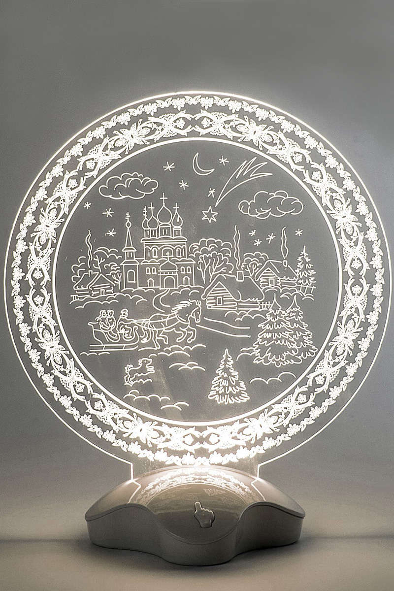 Подставка световая Luazon Зимний пейзаж, 22,5 х 19 см. 2446529