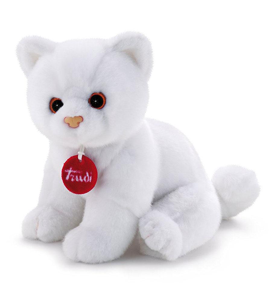 Trudi Мягкая игрушка Котенок Брэд цвет белый 24 см trudi котёнок брэд серо белый 24 см