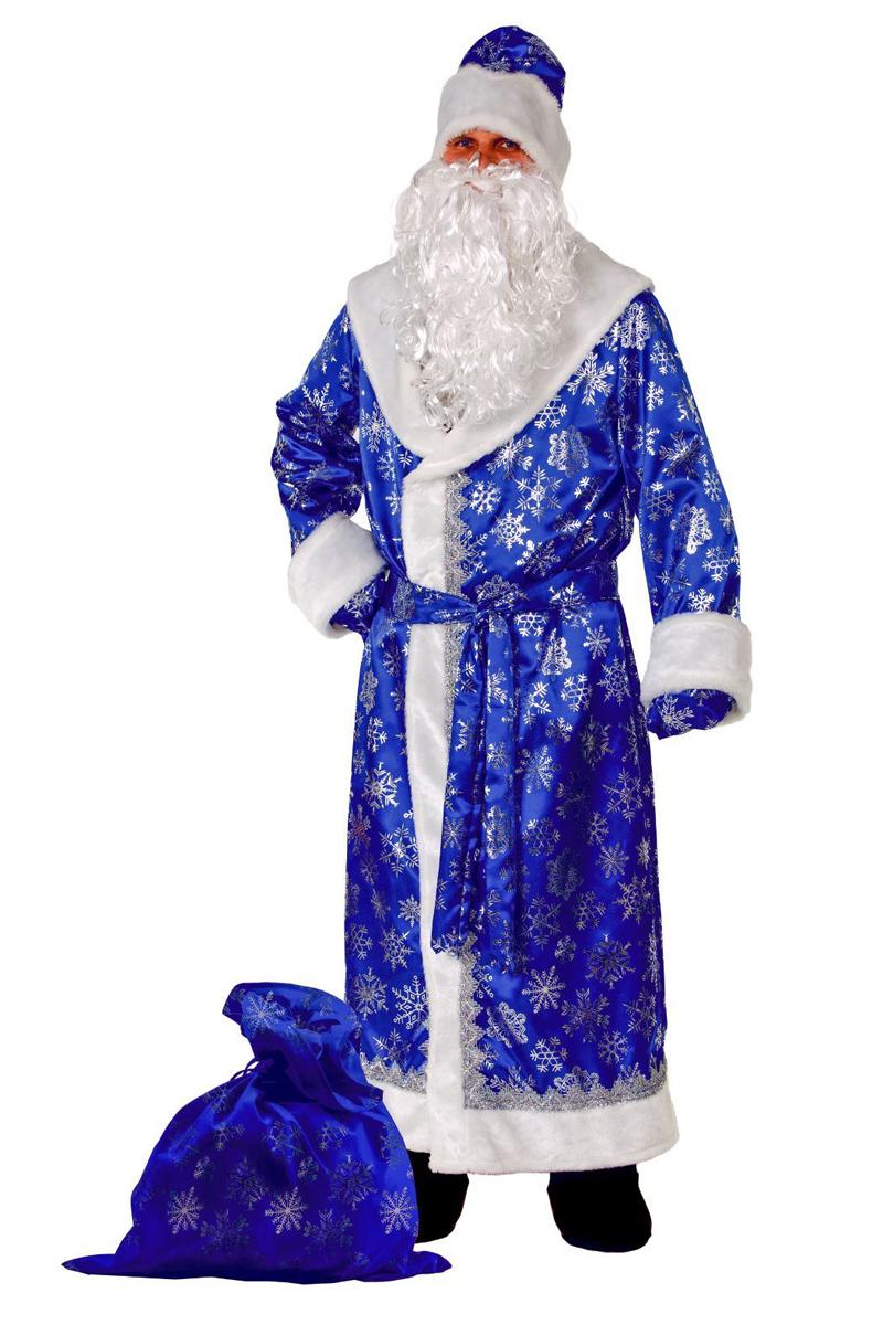Костюм карнавальный Батик  Дед Мороз тин  , цвет: синий. Размер 54/56 - Карнавальные костюмы и аксессуары