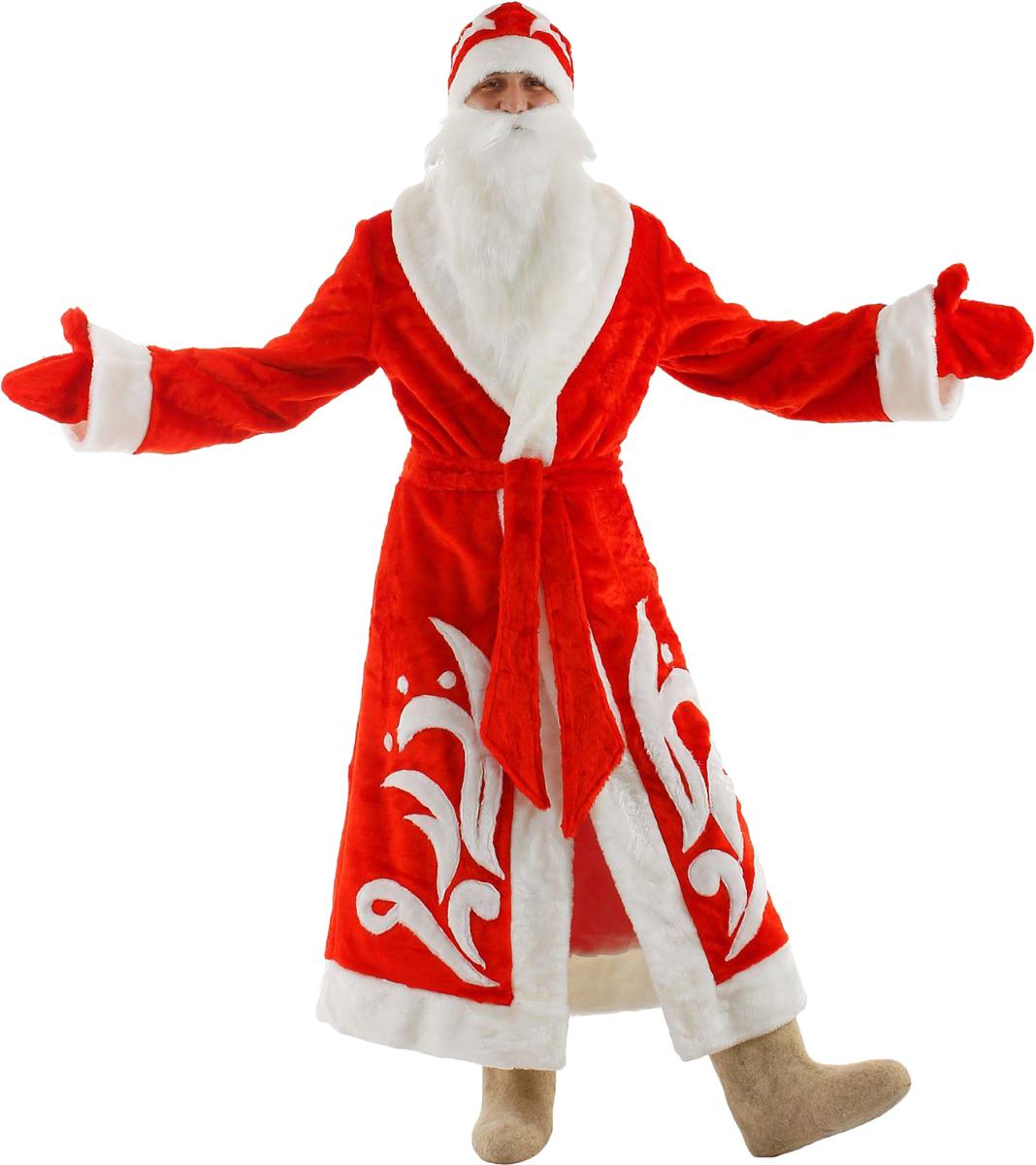 Карнавальный костюм Бока Дед Мороз, цвет: красный. Размер 52/54. 1577033 комбинезон тузик дед мороз карнавальный терьер джека рассела кобель