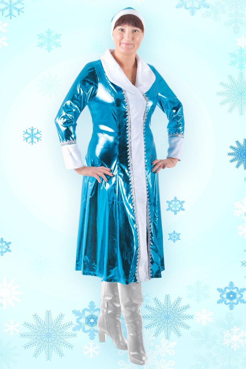 Карнавальный костюм Страна Карнавалия Снегурочка, цвет: голубой. Размер 56/58 карнавальный костюм котенок карнавалия