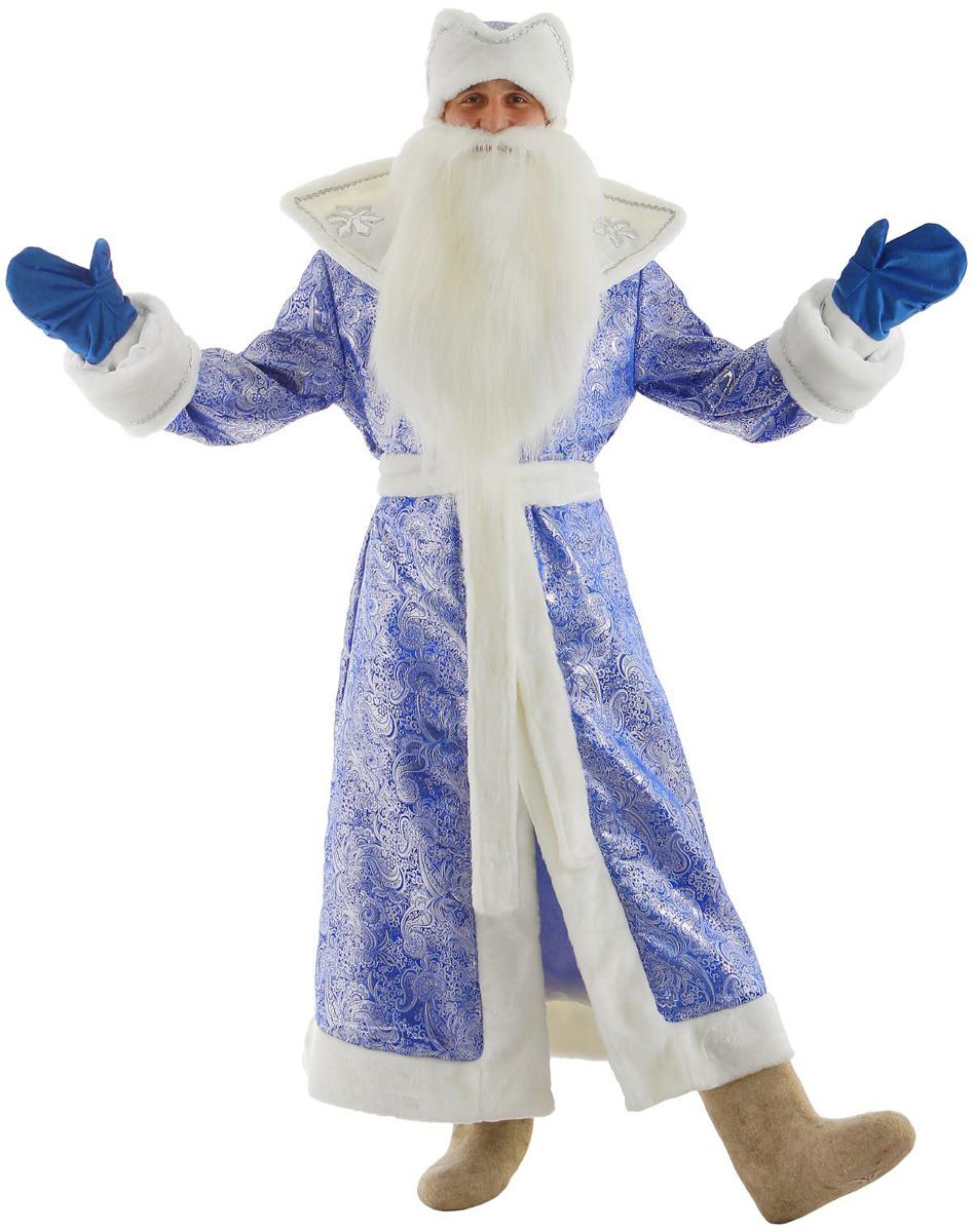Карнавальный костюм Бока Дед Мороз, цвет: синий. Размер 52/54. 1828064