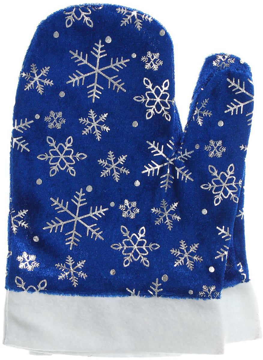Варежки Деда Мороза Sima-land, цвет синий, со снежинками. Размер универсальный парики veld co парик деда мороза