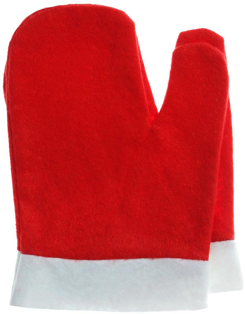 """Варежки Деда Мороза """"Sima-land"""", цвет красный. Размер универсальный"""