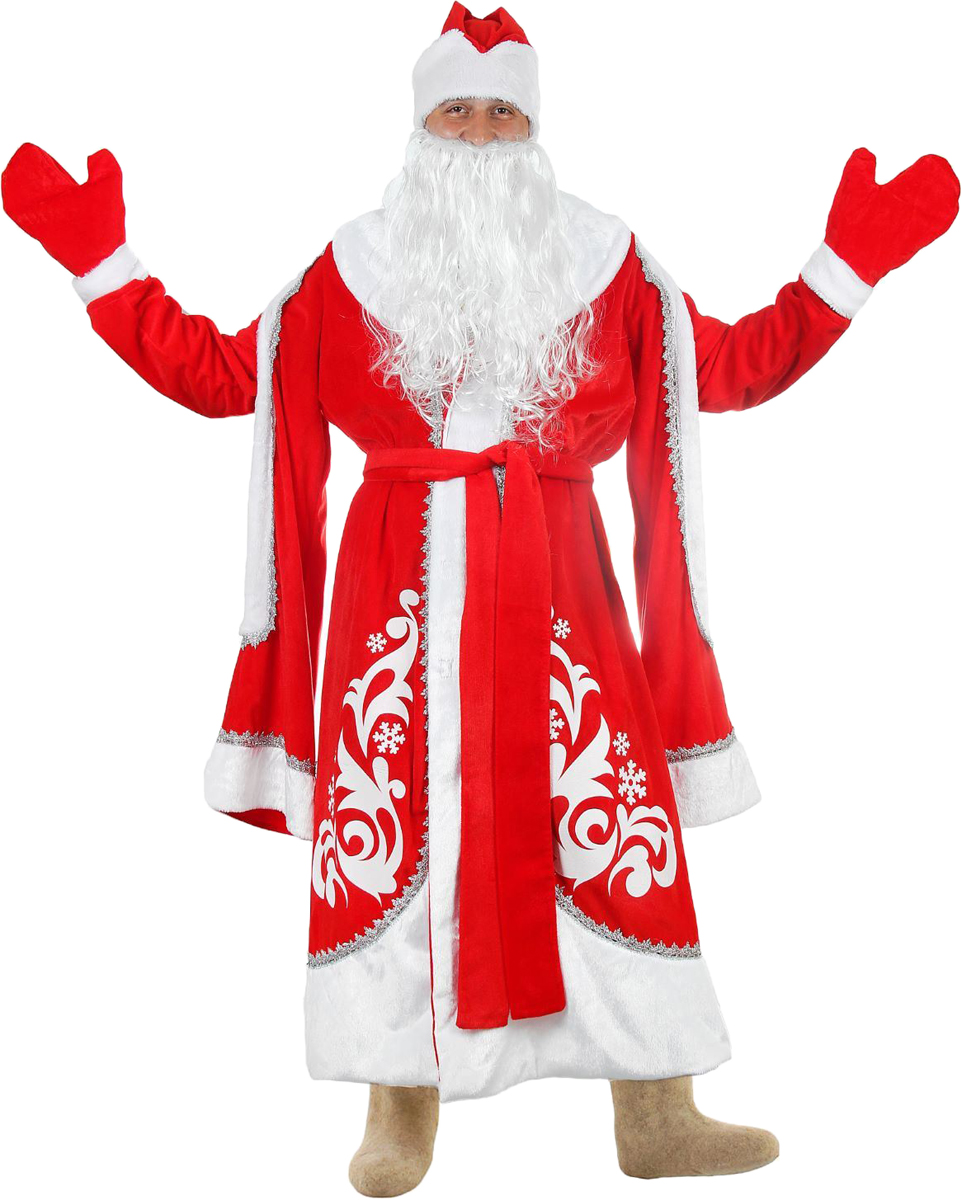 Карнавальный костюм Страна Карнавалия Дед Мороз Боярский, цвет: красный. Размер 48/50 костюм серебристой снегурочки 46 50