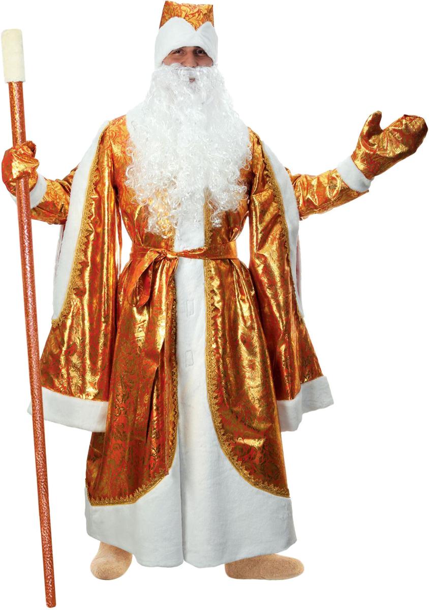 Карнавальный костюм Страна Карнавалия Дед Мороз, цвет: золотой. Размер 52/54 комбинезон тузик дед мороз карнавальный терьер джека рассела кобель