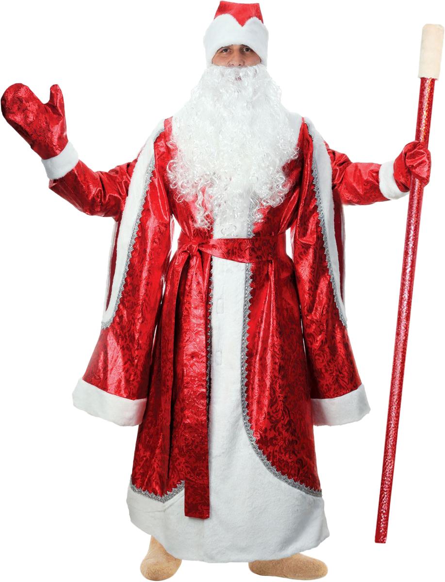 Карнавальный костюм Страна Карнавалия Дед Мороз, цвет: красный. Размер 48/50 комбинезон тузик дед мороз карнавальный ши тцу кобель