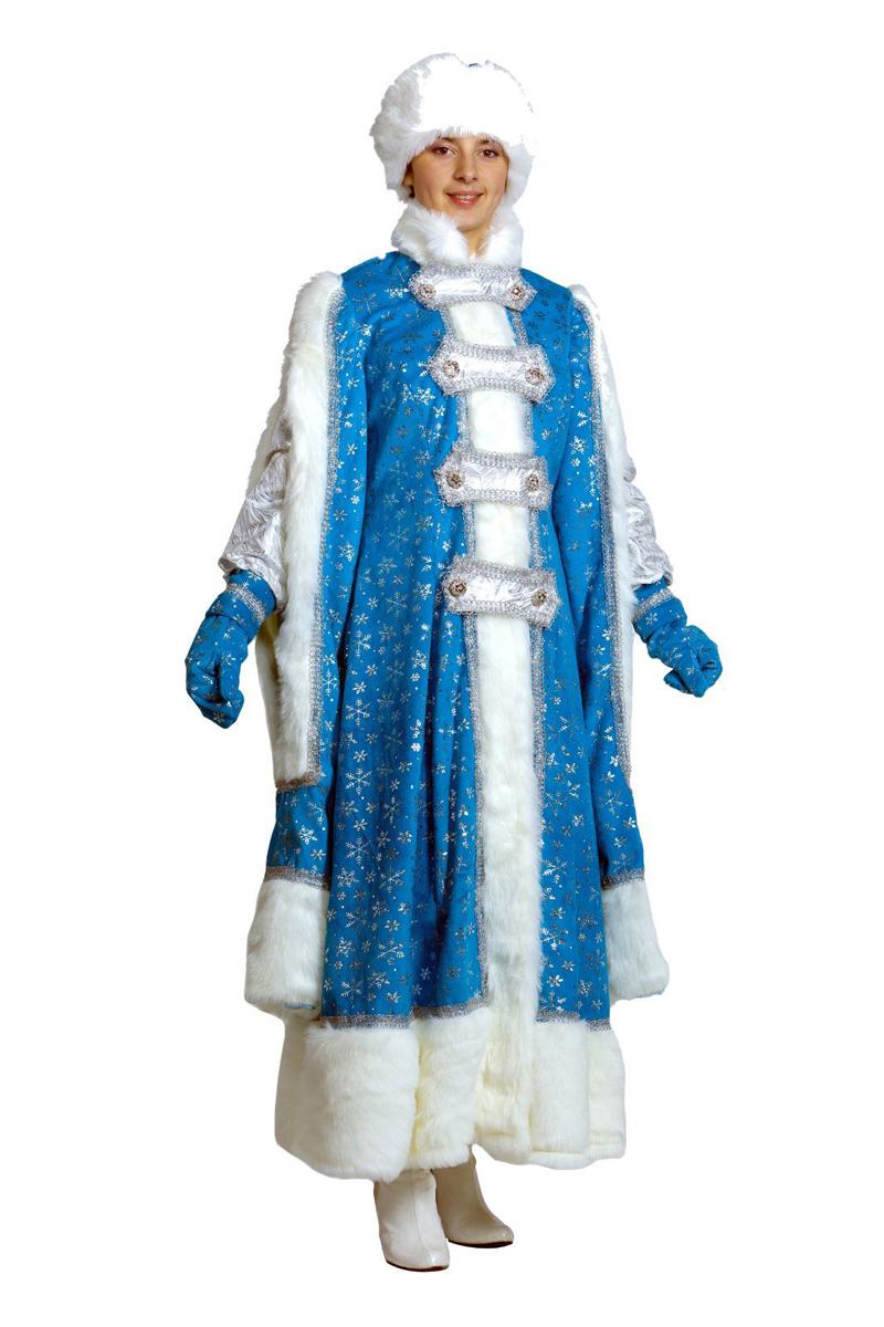 Карнавальный костюм Батик Снегурочка Боярыня, цвет: голубой. Размер 44/46 костюм серебристой снегурочки 46 50