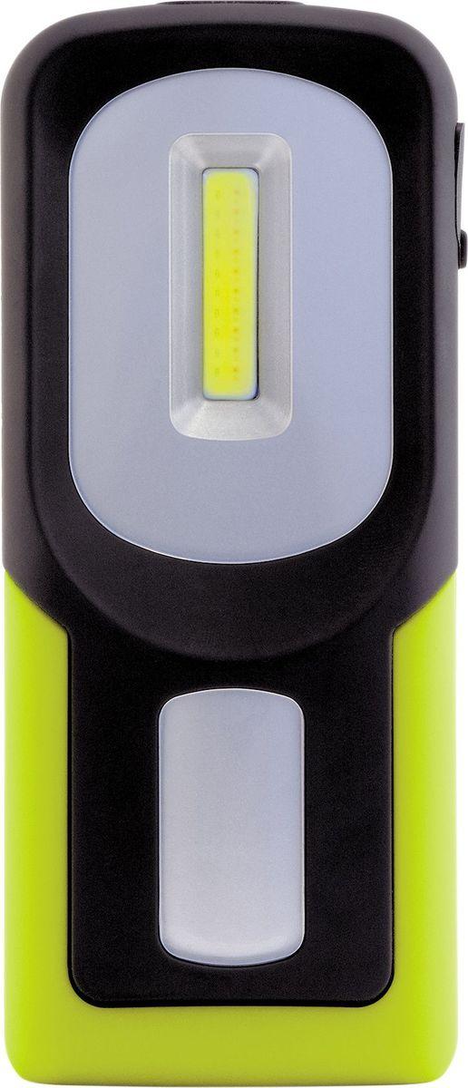 Фонарь ручной Яркий Луч Оptimus Accu Рocket4606400105824Фонарь ручной Яркий Луч Оptimus Accu Рocket: - Яркий светодиод Cob мощностью 3 Вт, световой поток 100 лм.- Два режима работы белого света: 100 (100%) и 50 (50%) лм.- Дополнительный красный свет, для его включения необходимо нажать и удерживать кнопку включения в течение 2 сек. - Три режима красного света: 100% (19 лм), мигающий и S.O.S.- Встроенный магнит для размещения фонаря на металлической поверхности.- Складывающийся крючок для подвешивания.- Переключение режимов осуществляется простым нажатием на кнопку. - Встроенный литиевый аккумулятор: 3.6 В 800 мАч, более 500 циклов заряда/разряда.- Встроенный индикатор заряда.Гарантийный срок 2 года, срок службы 5 лет.