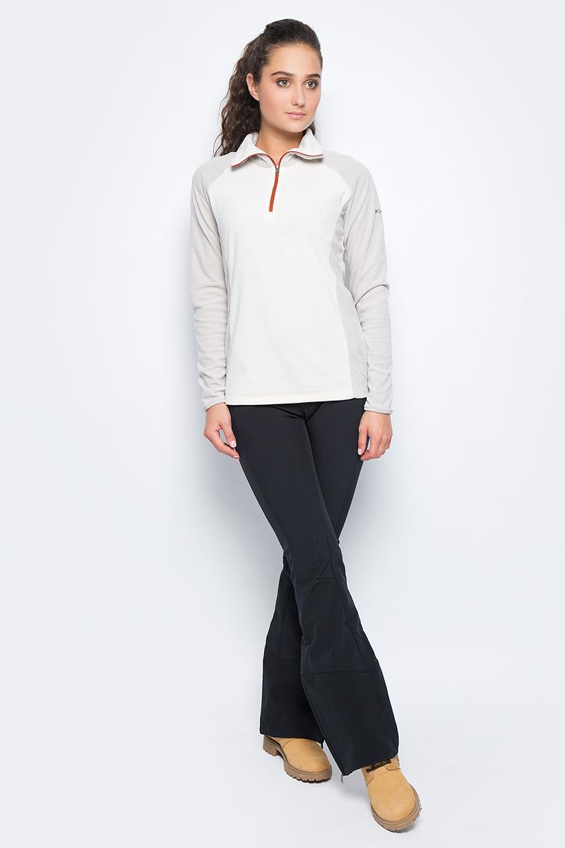 Толстовка женская Columbia Glacial Fleece Iii 1/2 Zip, цвет: белый. 1466971-191. Размер XL (50)1466971-191Женская толстовка Glacial Fleece Iii 1/2 Zip от Columbia, выполненная из необычайно мягкого и теплого флиса, идеально подойдет для повседневной носки или занятий фитнесом. Модель отлично сидит и обеспечивает максимальную свободу движений. Толстовка с длинными рукавами и воротником-стойкой застегивается спереди на молнию. На рукаве изделие украшено логотипом и названием бренда. Такая толстовка подарит вам комфорт в течение всего дня!