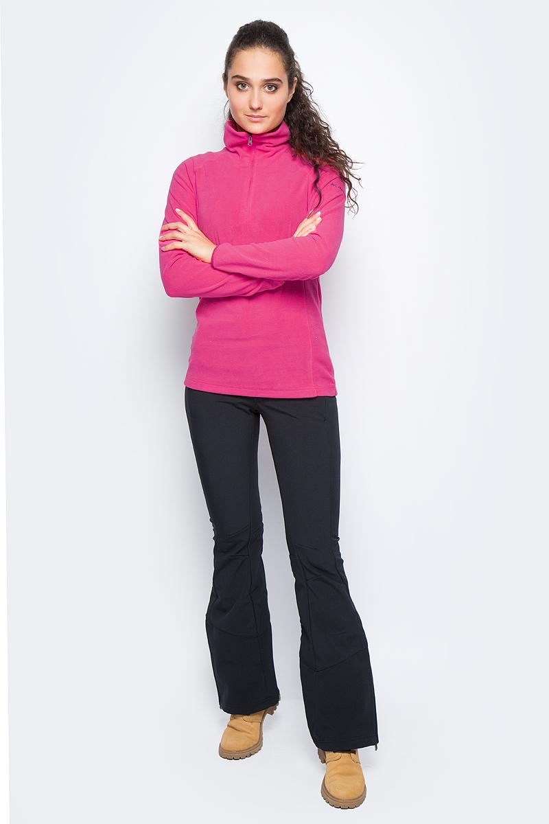 Толстовка женская Columbia Glacial Fleece Iii 1/2 Zip, цвет: малиновый. 1466971-637. Размер XS (42)