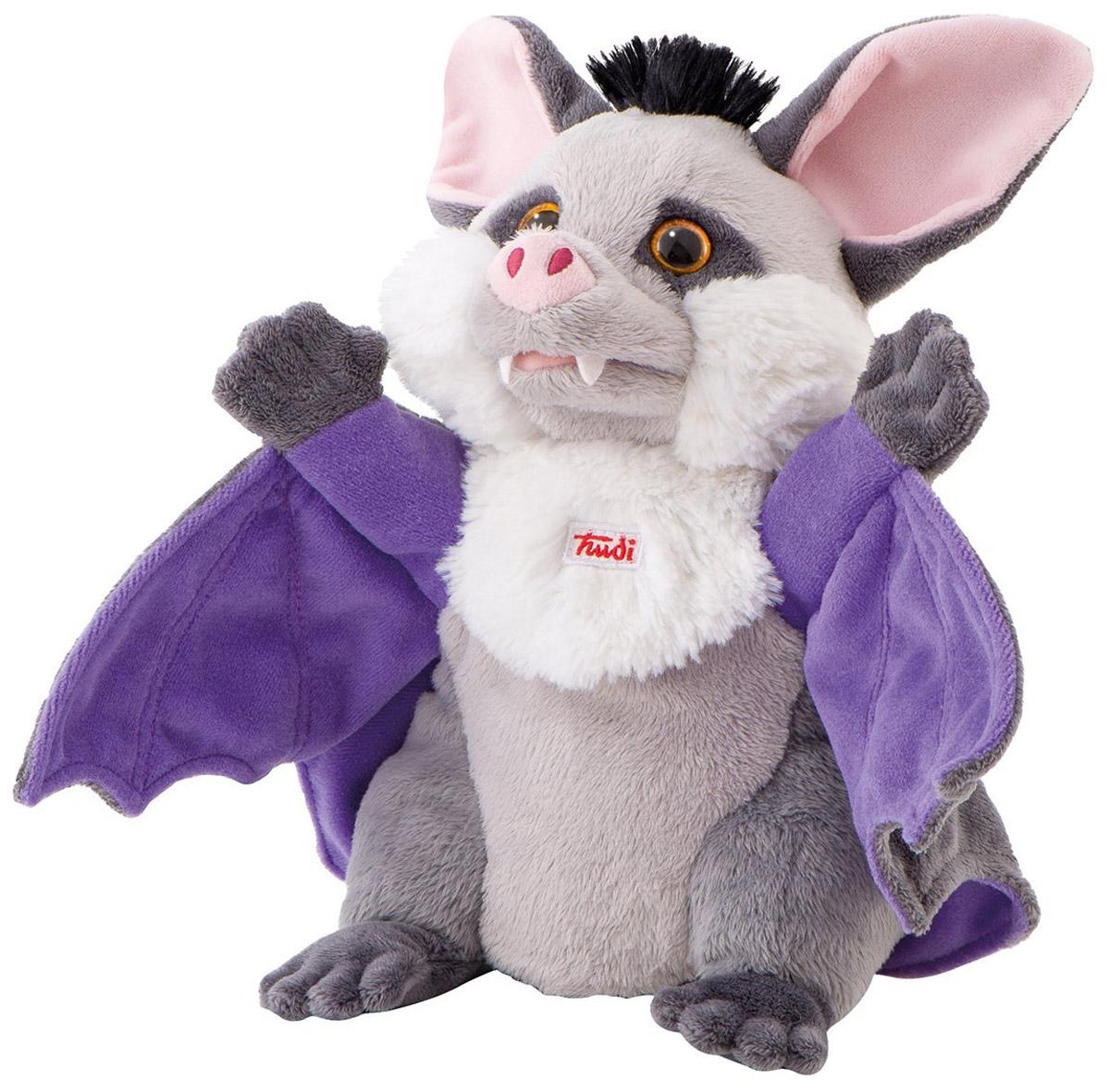 Trudi Мягкая игрушка на руку Летучая мышь 25 см мягкие игрушки trudi лайка маркус 34 см