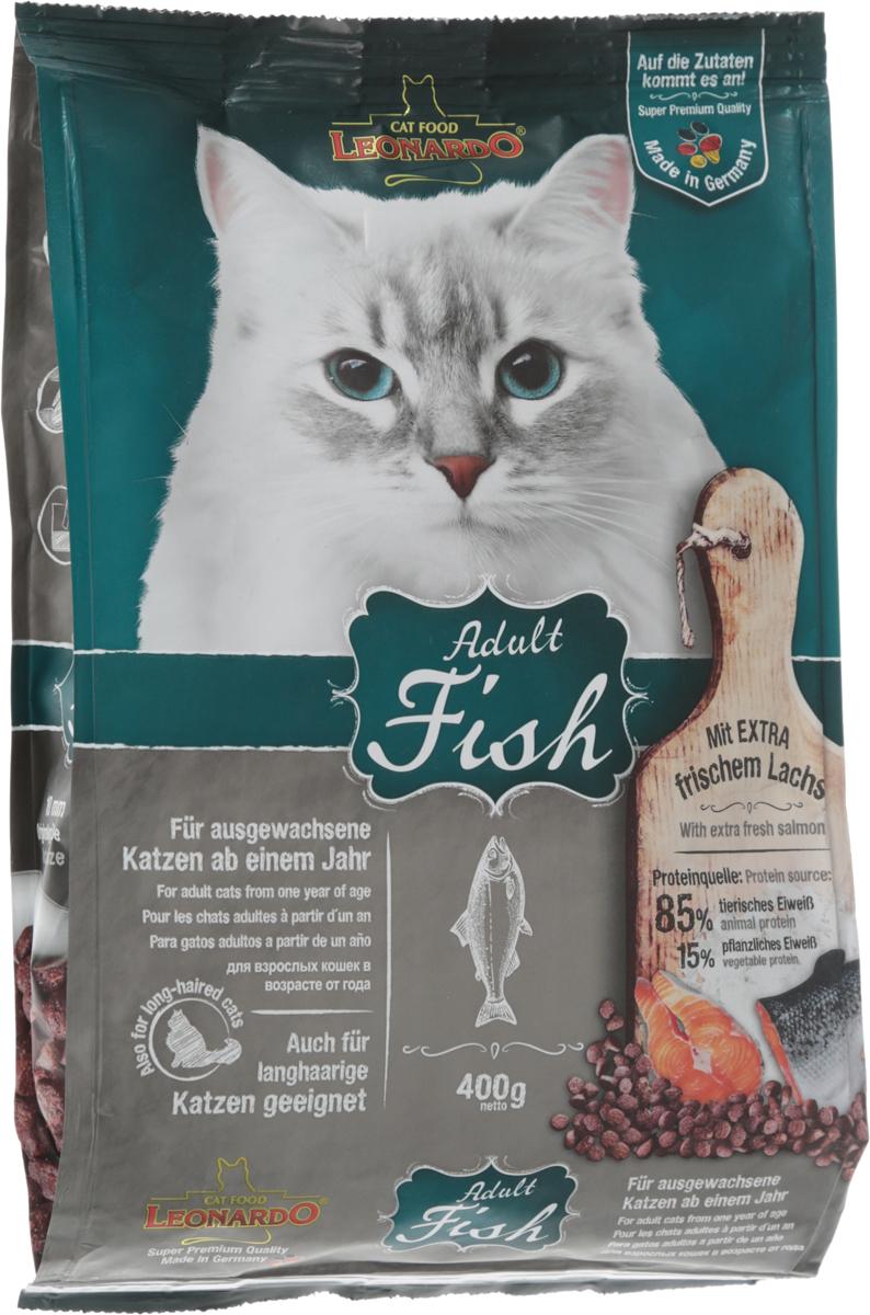 Корм сухой Leonardo Adult Sensetive для взрослых кошек от 1 года, на основе морской рыбы и риса, 400 г26084Сухой корм Leonardo Adult Sensetive предназначен для взрослых кошек с чувствительным пищеварением. С добавлением вкусного криля (креветок). За счет высокого содержания Омега-3 и Омега-6 жирных кислот улучшает качество кожи ишерсти. Снижает образование зубного камня и зубного налета. Корм обладает профилактикой мочекаменной болезни и подходит для кастрированных/стерилизованных котов и кошек.Состав: мука сельди 17%, сухое мясо птицы пониженной зольности 15%, рис 15%, кукуруза, жир домашней птицы, морепродукты (криль 4%), рожь, яичный порошок, пивные дрожжи 2,5%, гидролизат печени птицы, вытяжка из виноградной косточки, цареградский сухой стручок 1,25%, льняное семя, поваренная соль, инулин.Добавки: витамин А 15000 МЕ, витамин D3 1500 МЕ, витамин Е 150 мг, витамин C (как аскорбил монофосфаты) 245 мг, таурин 1400 мг, медь (как медь-(ll)-сульфат, пентагидрат) 15 мг, железо (в форме железа ll сульфат) 200 мг, железо (в форме оксид железа lll) 385 мг, марганец (как двуокись марганца) 50 мг, цинк (как окись цинка) 150 мг, йод (как йодат кальция) 2,5 мг, селен (в форме селен натрия) 0,15 мг, лецитин 2000 мг, экстракты натурального происхождения с высоким содержанием токоферола (= натуральный витамин Е) 80 мг.Содержание: протеин 32%, жиры 20%, сырая зола 7,5%, клетчатка 1,9%, влага 10%, кальций 1,1%, фосфор 0,9%, натрий 0,4%, магний 0,09%.Товар сертифицирован.
