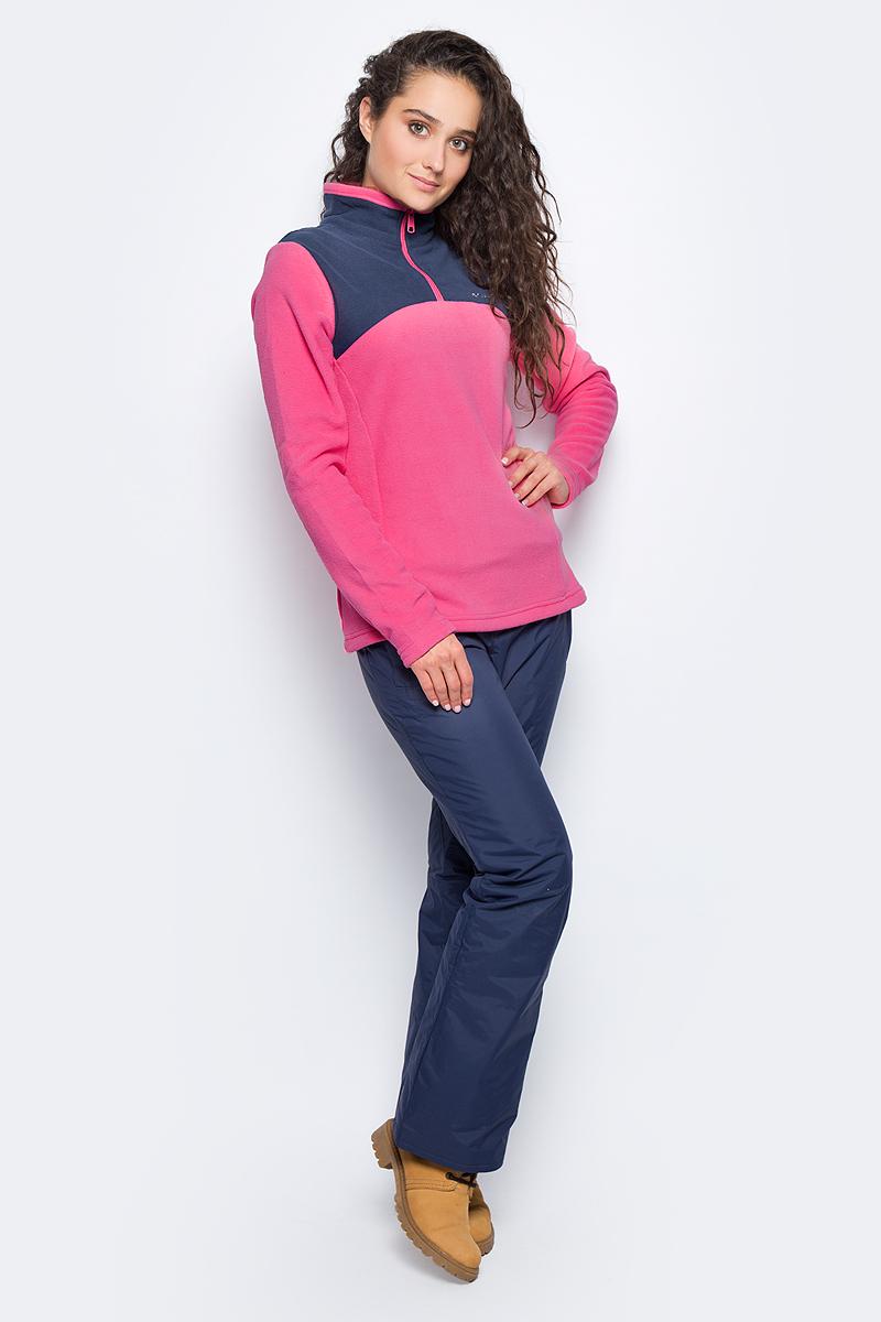Толстовка женская Columbia Western Ridge Half Zip Jumper, цвет: розовый. 1740891-601. Размер L (48)1740891-601Женская толстовка Western Ridge Half Zip Jumper от Columbia, выполненная из необычайно мягкого и теплого микрофлиса, идеально подойдет для повседневной носки или занятий фитнесом. Модель отлично сидит и обеспечивает максимальную свободу движений. Толстовка с длинными рукавами и воротником-стойкой застегивается спереди на молнию с защитой подбородка. На груди изделие украшено вышитым логотипом и названием бренда. Такая толстовка подарит вам комфорт в течение всего дня!