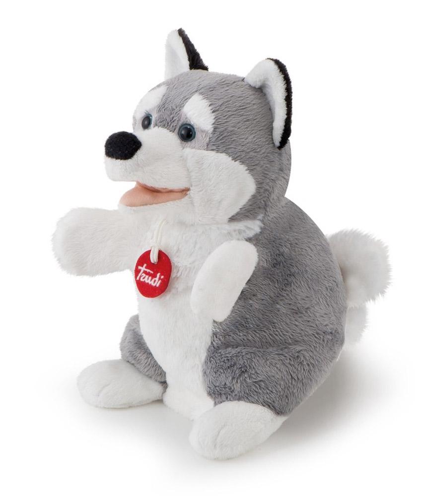 Trudi Мягкая игрушка на руку Лайка 25 см trudi котёнок брэд серо белый 24 см
