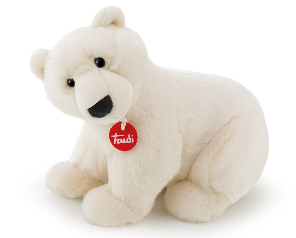 Trudi Мягкая игрушка Полярный медведь Пласидо 36 см