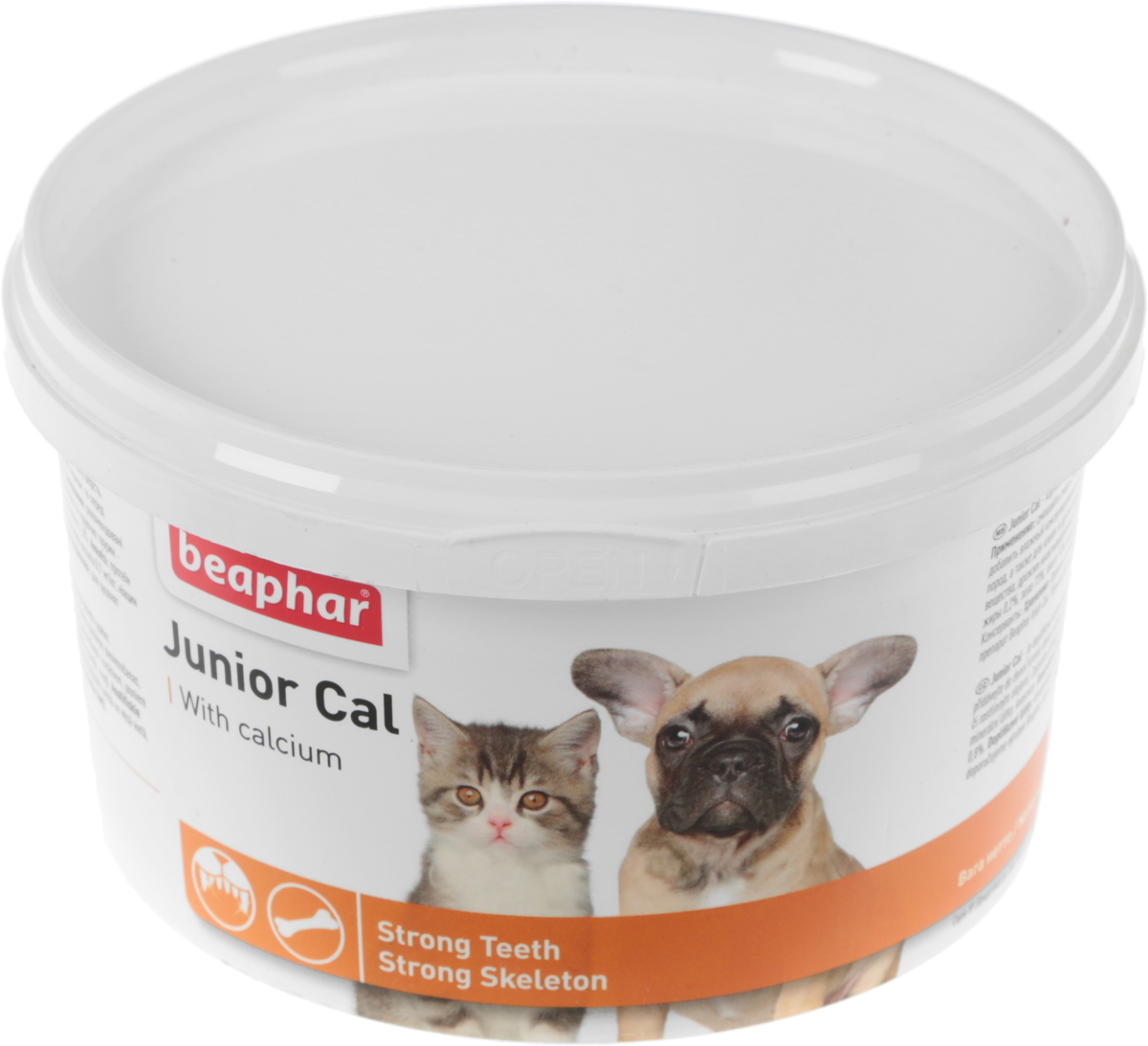 Минеральная смесь Beaphar Junior Cal, для кошек и собак, 200 г13126Минеральная добавка Beaphar Junior Cal предназначена для щенков и котят, растущих собак и кошек, а также других животных c шерстяным покровом. Junior Cal - это смесь минералов, которая обеспечит вашему животному прочный костяк, крепкие зубы и красивую шерсть. Смесь также подходит в качестве укрепляющего препарата для беременных и кормящих животных. Состав: минеральные вещества, молоко и молочные продукты, дрожжи. Анализ: протеин 2,1%, масла и жиры 0,2%, клетчатка 0,12%, зольные компоненты 73%, влага 18%, кальций 24%, фосфор 24%, магний 0,8%.Вес упаковки: 200 г. Товар сертифицирован.Уважаемые клиенты!Обращаем ваше внимание на возможные изменения в дизайне упаковки. Качественные характеристики товара остаются неизменными. Поставка осуществляется в зависимости от наличия на складе.