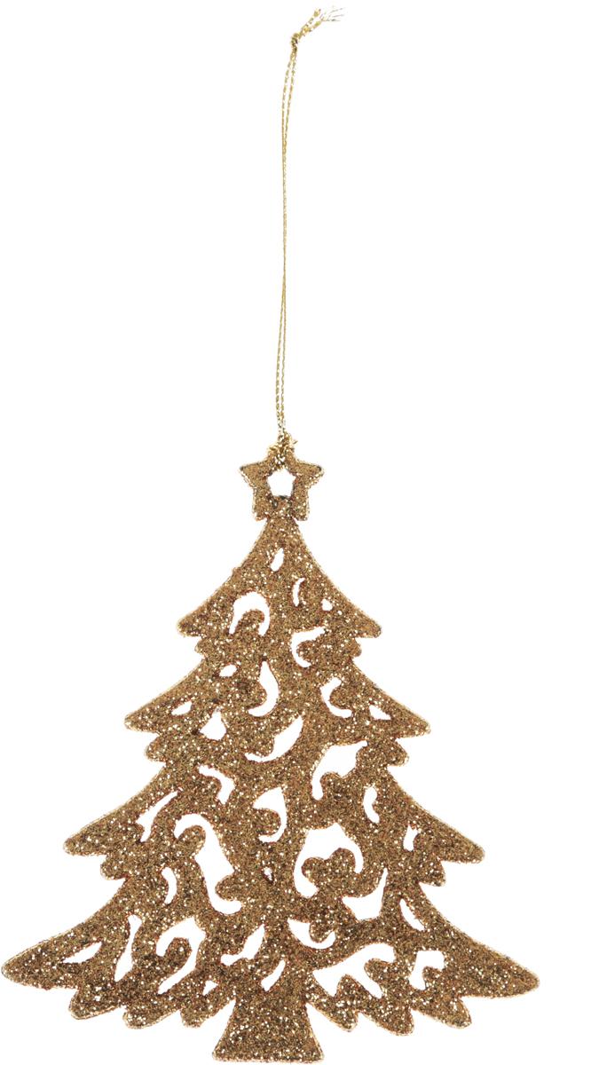 Украшение новогоднее подвесное Magic Time Золотистая елочка 10 х 12 см42095/75065Новогоднее подвесное украшение Magic Time Золотистая елочка выполнено из полипропилена в виде елочки и украшено блестками. С помощью специальной петельки украшение можно повесить в любом понравившемся вам месте. Но, конечно, удачнее всего оно будет смотреться на праздничной елке. Елочная игрушка - символ Нового года. Она несет в себе волшебство и красотупраздника. Создайте в своем доме атмосферу веселья и радости, украшаяновогоднюю елку нарядными игрушками, которые будут из года в год накапливатьтеплоту воспоминаний.