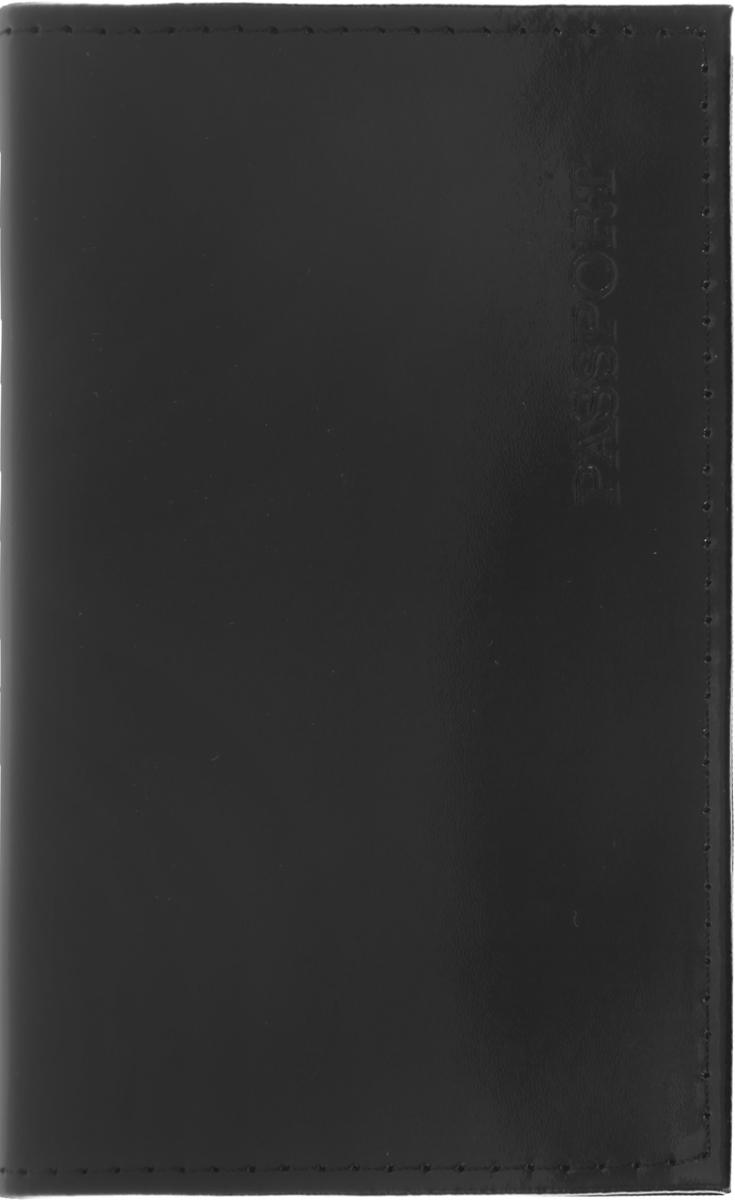 Обложка для паспорта Главдор, цвет: черный. GL-232GL-232Обложка для паспорта Главдор изготовлена из натуральной кожи. Лицевая сторона оформлена надписью Passport. Внутри расположено 2 прозрачных кармашка для вашего паспорта.Такая обложка не только защитит ваши документы от грязи и потертостей, но и станет стильным аксессуаром, который отлично впишется в ваш образ.Размер обложки: 13,8 х 9,5 см.